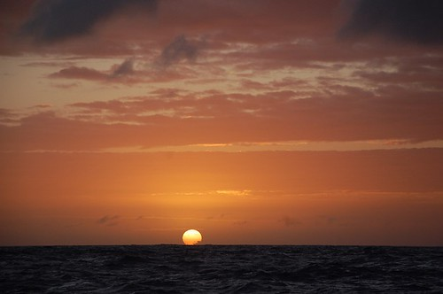 sunrise on the Coral Sea