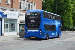 1642 HF66CFN (PD3.) Tags: 1642 hf66cfn hf66 cfn adl enviro 400 mmc southampton bargate hants hampshire bus buses goahead go ahead south bluestar