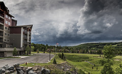 Here Comes the Storm (The Wandering Cameraman) Tags: d750 nikon weather lightning windhammountain ny newyorkstate landscape building landscapephotography squall darkskies raw