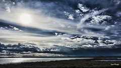 Clouds Over Sea (​j૯αท ʍ૮ℓαท૯) Tags: clouds cloudy cloudscape landscape darksky dark skies blue bluehour sunset sea seascape nature no people