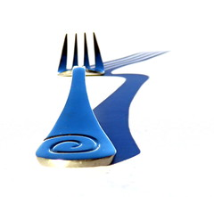 Fork minimalism !  ...[Explored :-D]... (Snorkle-suz) Tags: smileonsaturday lessismore minimalist minimalism fork highkey shadow swirl koru spiral stainlesssteel metal silver blue white stilllife nz newzealand aotearoa canonpowershotsx700hs