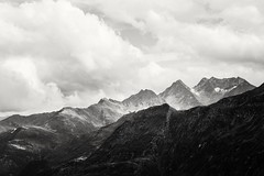 Memories (desomnis) Tags: mountains landscape landscapes nature monochrome bw blackandwhiteclouds dramatic sky dramaticsky travel traveling landscapephotgraphy skyandclouds canon canon6d 6d tamron tamron2470mmf28 desomnis grosglocknerhochalpenstrase