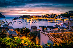 Port De Soller (Heli Hansen) Tags: portsoler mallorca panorama sailing spain night longexposure boats port bay harbour ocean sunset