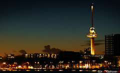 Euromast (Luuk van Kaathoven) Tags: by skyline night rotterdam nikon van euromast luuk d80 luukvankaathovennl kaathoven