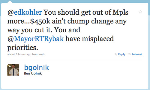 Ben Golnik Twittering Nonsense From Minneapolis