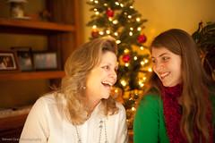 Sharing a Laugh (6/52) (Steve Gray) Tags: christmas family portrait portraits canon mom 50mm gold photo warm sister candid christmastree ii 5d blooper tone mk reflector christmascard mkii potw warmtones sooc goldreflector 5dmkii portraitoftheweek