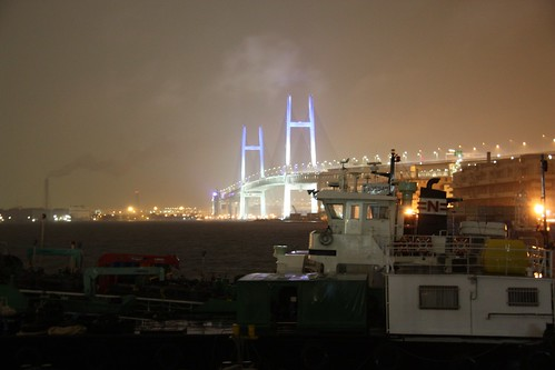 Yokohama Bay Bridge (by martian cat)