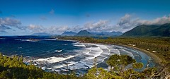 Above Cox Bay (Christopher J. Morley) Tags: ocean canada mountains beach waves vancouverisland longbeach tofino coxbay beautifulbritishcolumbia