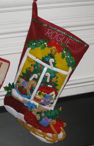 Rogue's new Christmas stocking
