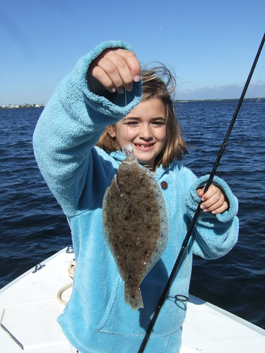 Megan catches a Flounder!