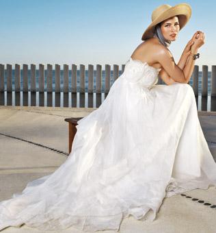 White Ivory Summer Beach Wedding Dresses Fall 2010