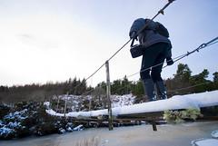 Strathy_Scotland_172 (jjay69) Tags: christmas xmas uk bridge winter england snow cold danger outdoors scotland frost footbridge britain freezing freeze caution wellingtonboots wilderness sutherland slippery careful strathy northernscotland