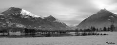 Lac des gaves (Trialxav) Tags: winter white snow black apple macintosh mac nikon noir osx neige et blanc d60 pyrenées lacdesgaves the4elements prechac