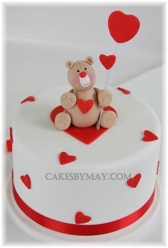 Valentine's Teddy Bear Cake