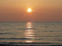 Blackpool sunset (Ianmoran1970) Tags: sunset sun beach water waves ship blackpool ianmoran ianmoran1970