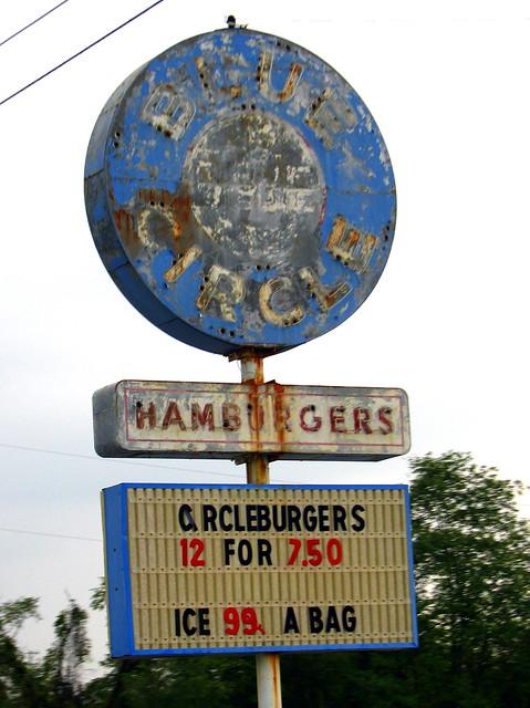 Blue Circle Hamburgers
