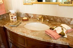 Curved Vanity with marble top (Adirondack Construction Company) Tags: top vanity marble curved