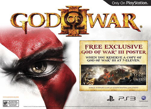 God of War III Window 7-Eleven Poster