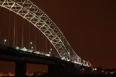 Day 12 / 365 : The Lit Half (Mortarman101) Tags: bridge runcorn halton runcornbridge silverjubileebridge 365days
