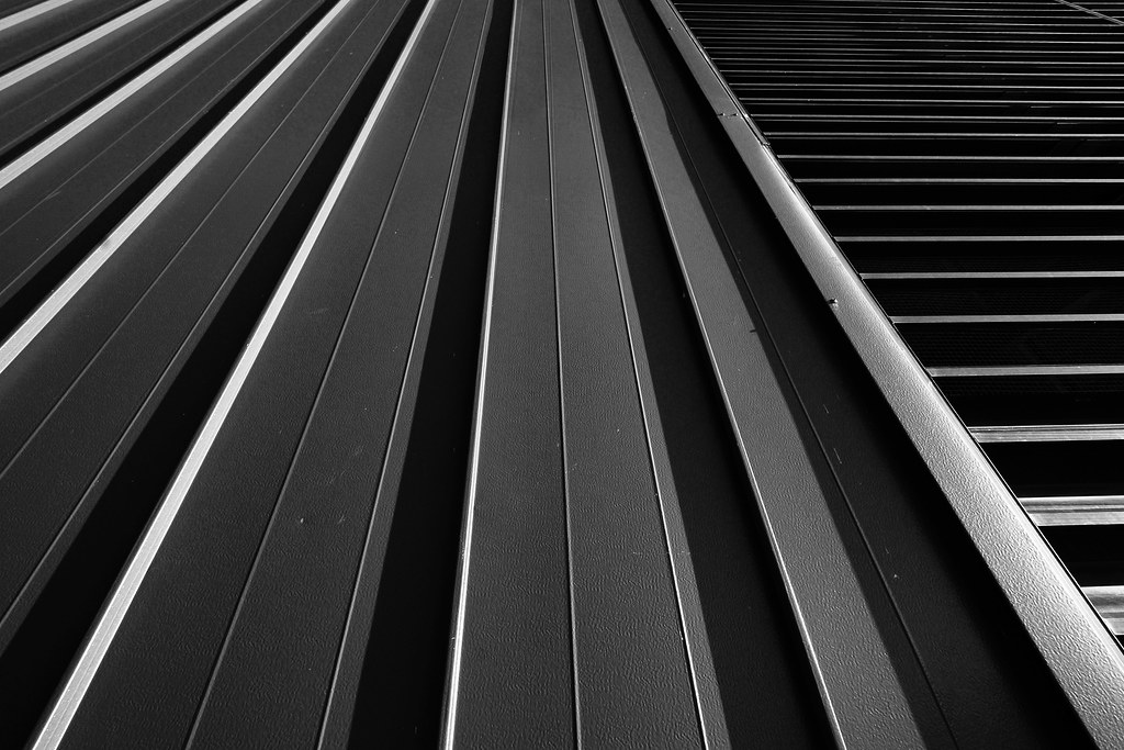 Lines in several directions, in black and white.