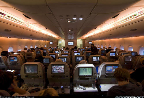 Emirates A380 Economy Cabin