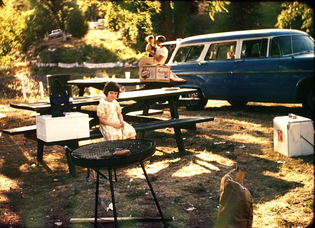 Family Picnic in Campground apx 1955 (2)