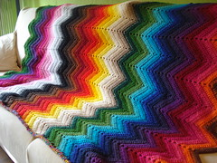 manta zig-zag blanket (pertinitaco) Tags: colors rainbow ripple crochet blanket zigzag manta ganchillo travelsofhomerodyssey