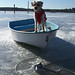 Daddy, the dinghy is frozen!