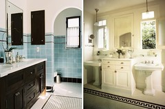 Vintage Inspired Bathrooms (A Year of Marriage) Tags: homedecor homerenovation bathroomrenovation vintagebathrooms