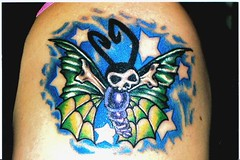 death moth (Billy Whaley Tattoo) Tags: color tattoo butterfly stars death women moth billy whaley