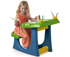 Creative  a drawing table with plastic plastic children's toys garden furniture safety (studiopk) Tags: garden table toys with furniture drawing creative safety plastic childrens