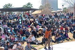 Thousands of people gathered in Phoenix today to commemorate life