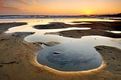 Perranuthnoe Light (midlander1231) Tags: ocean sunset sea england seascape reflection beach sunrise landscape cornwall surf surfing perranuthnoe mywinners