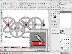 Puredyne running Inkscape & GIMP