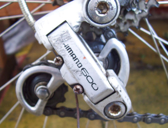 Raleigh Road Ace Shimano 600 rear derailleur