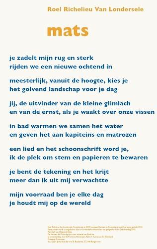 Roel Richelieu - Mats (poster gedichtendag 2010)