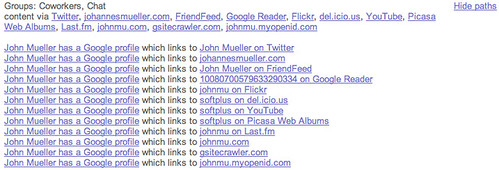 Google Social Search Paths