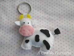 Vaquinha / Little cow (A.casa.do.Guaxinim) Tags: keychain felt feltro portachaves vaca vaquinha