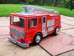 Merryweather Fire Engine Model Made Completely From Recycled Materials - 2 Of 5 (Kelvin64) Tags: red art water truck fire corgi artwork engine lorry emergency tender diorama matchbox brigade dinky merryweather