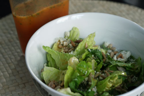 Salad with Honeybell Orange Rosemary Dressing