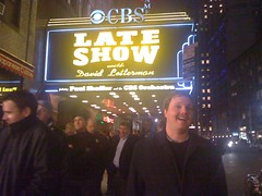 Mike post show (PeteyIsCuterThanHerb) Tags: nyc newyork mike lateshowwithdavidletterman edsullivantheater mcdevitt mikemcdevitt