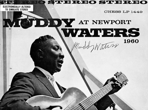 Muddy Waters At Newport 1960 - Signed original LP Cover