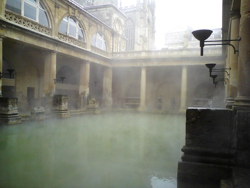 sketching at the roman baths