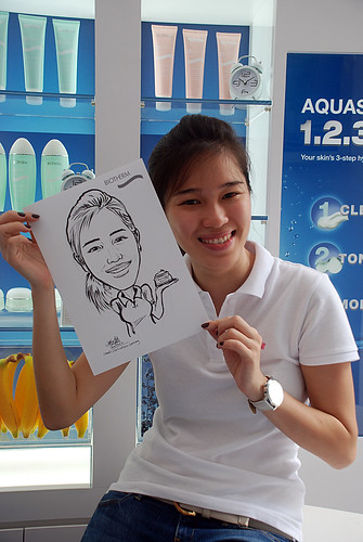 Caricature live sketching for Biotherm Roadshow Loreal - 12