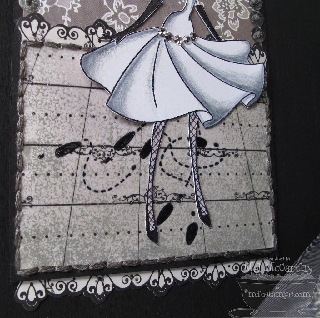 MFTeasers DANCE box floor embossing texture mel stampz