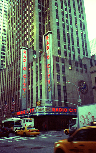 Radio City NYC -  Agfa Chrome (Cross-Processed Image)