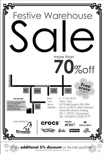 5 - 7 Feb: Festive Warehouse Sale @ Subang Jaya