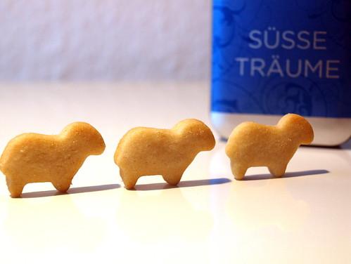 Schäfchen-Kekse zur Guten Nacht