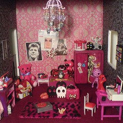 All done (Rainbow Mermaid) Tags: house halloween miniature scary bedroom punk doll dolls furniture room gothic emo goth funky creepy spooky 80s dolly dollhouse newwave rainbowmermaid