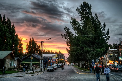 Sunset on Av. Libertador